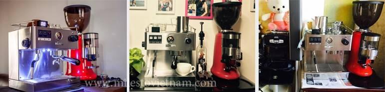 Máy cà phê Milesto thực tế