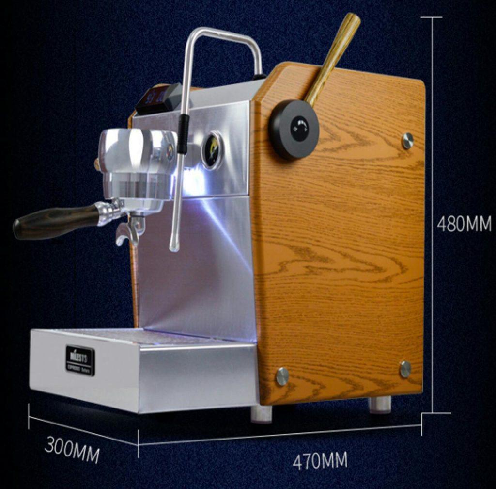 Kích thước các máy cà phê Milesto 1 group